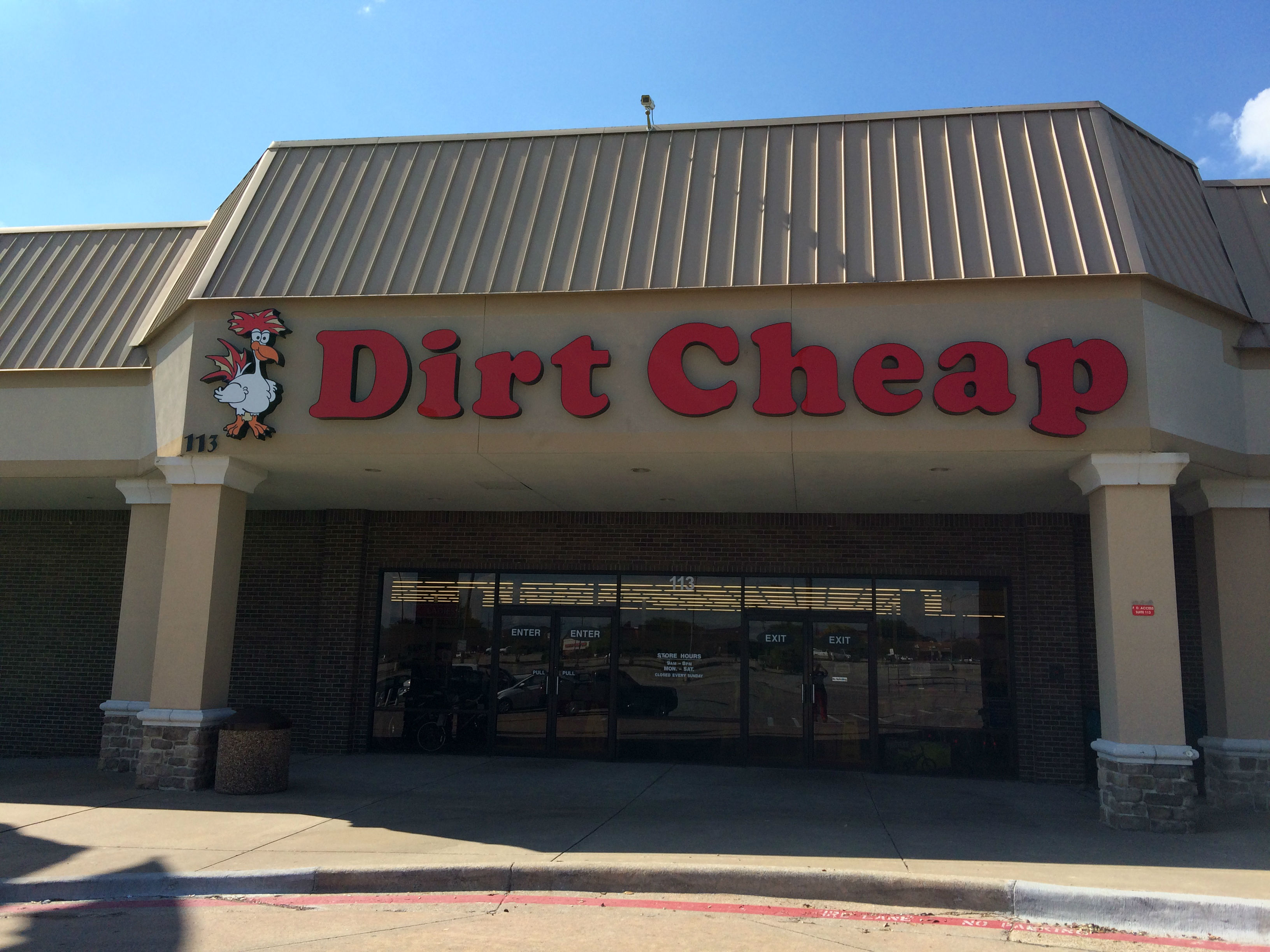 Dirt cheap store locations - Address